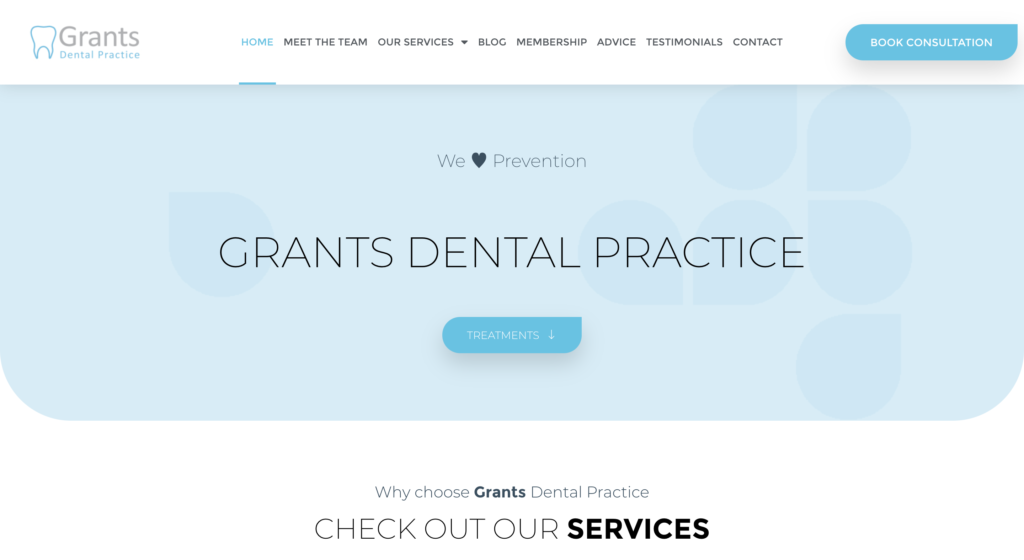 Grants Dental Website