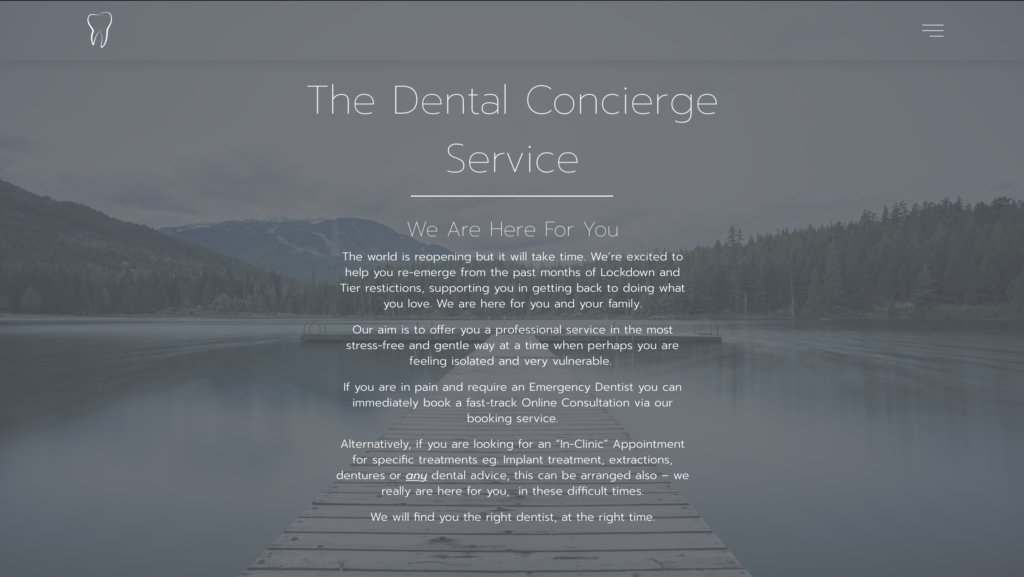 Dental Website Concierge